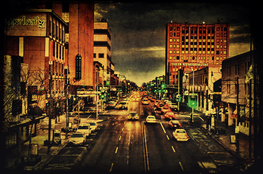 College Avenue Photograph - Retro College Avenue by Joel Witmeyer