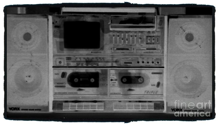 Urban Music Photograph - Retro In Xray by Stacy Devanney