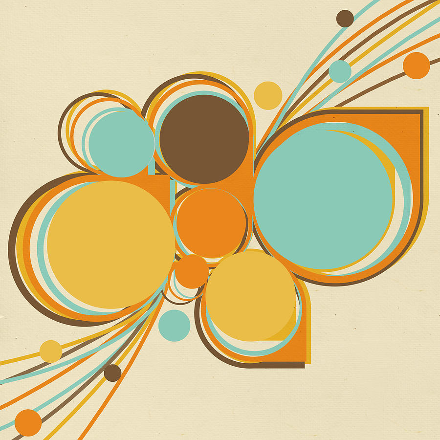 Abstract Digital Art - Retro Pattern by Setsiri Silapasuwanchai