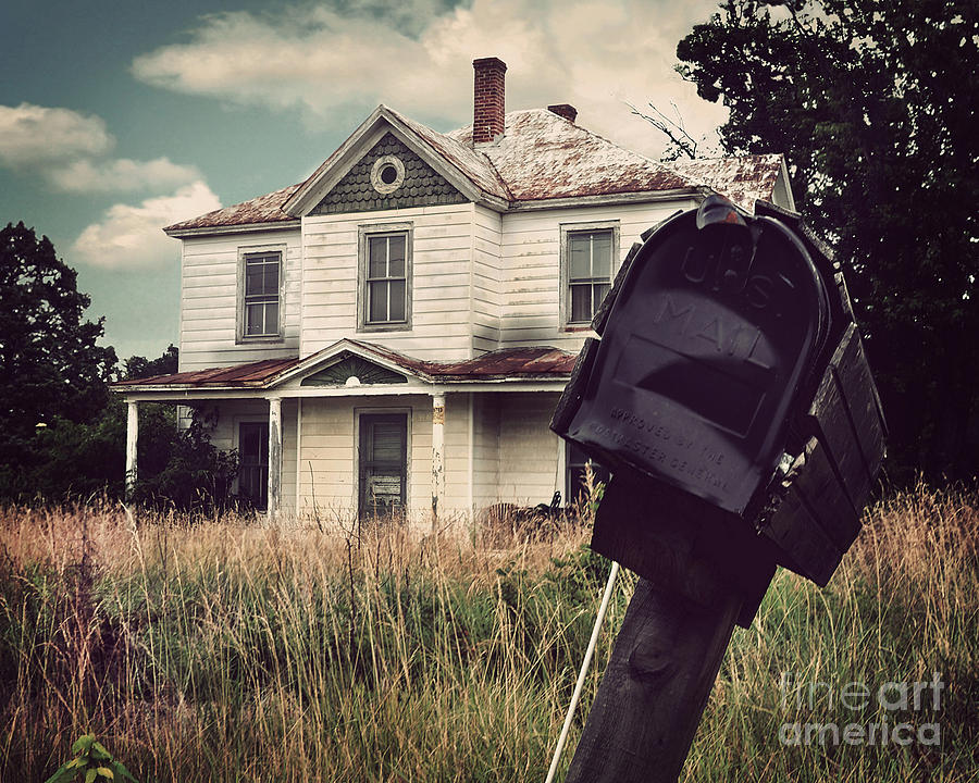 Abandoned Photograph - Return To Sender by Jane Brack