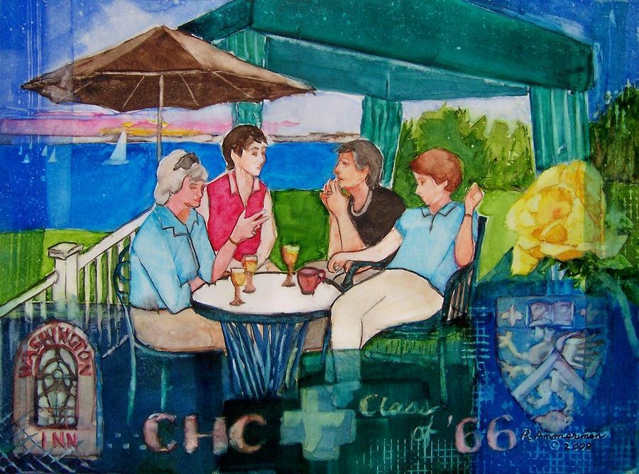 College Reunion Painting - Reunion by Regina Ammerman