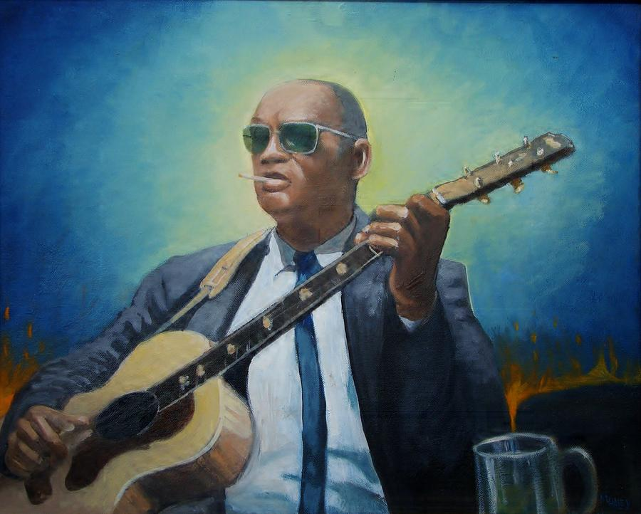 Blues Painting - Rev. Gary Davis by Mark Haley