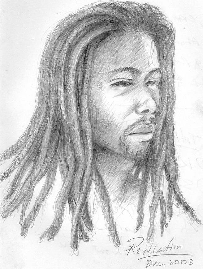 Rasta Drawing - Revelation by Winston Pedley