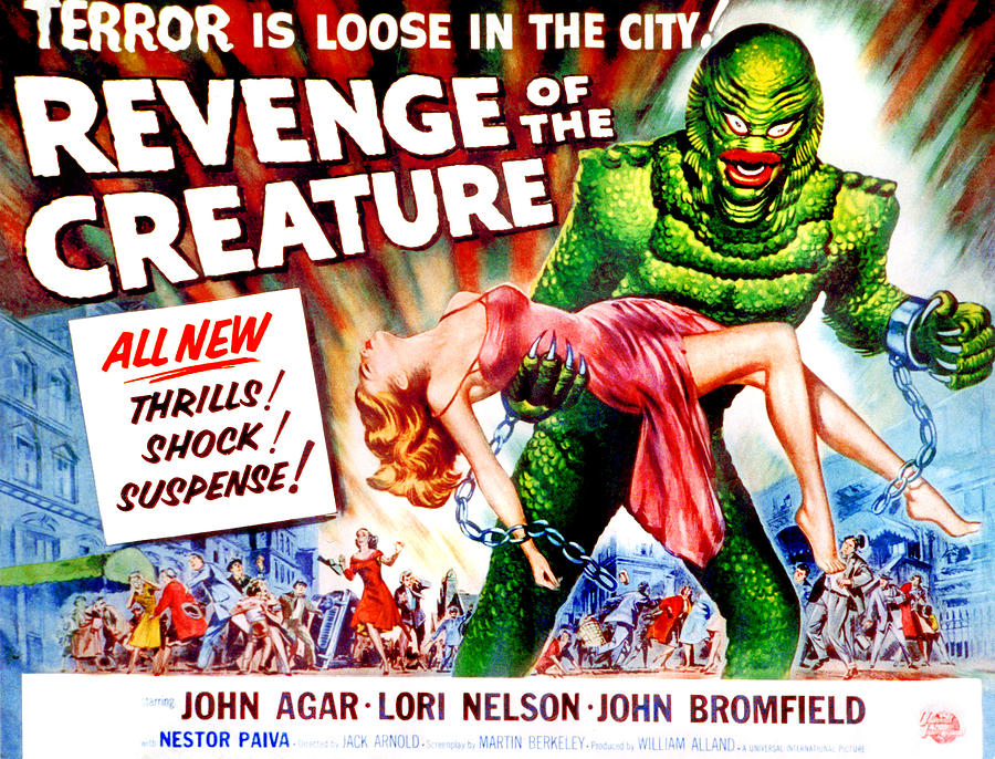 1955 Movies Photograph - Revenge Of The Creature, Lori Nelson by Everett