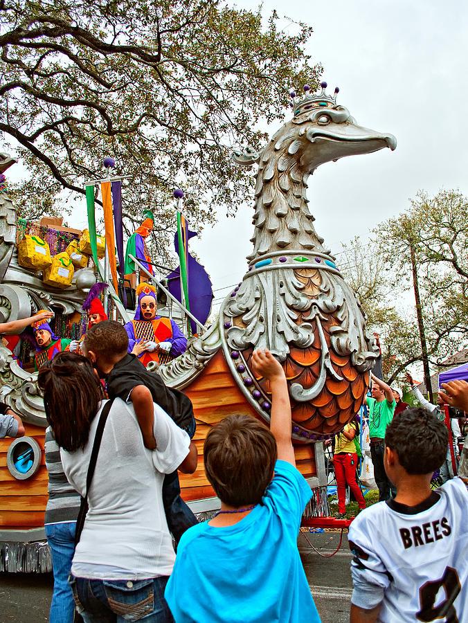 New Orleans Photograph - Rex Mardi Gras Parade Vi by Steve Harrington