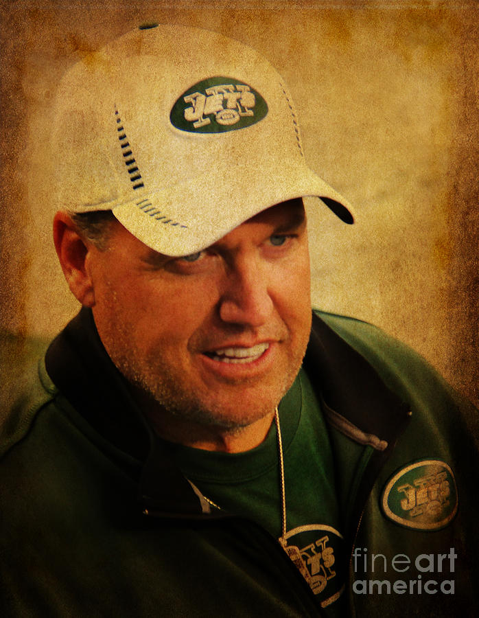 New York Jets Photograph - Rex Ryan - New York Jets by Lee Dos Santos