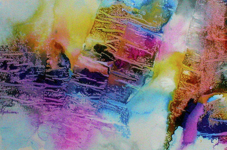 Lyrical Abstraction Painting - Rhythm And Blues by Mary Sullivan