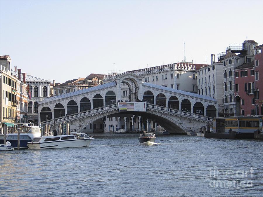 Grand Canal Photograph - Rialto. Venice by Bernard Jaubert