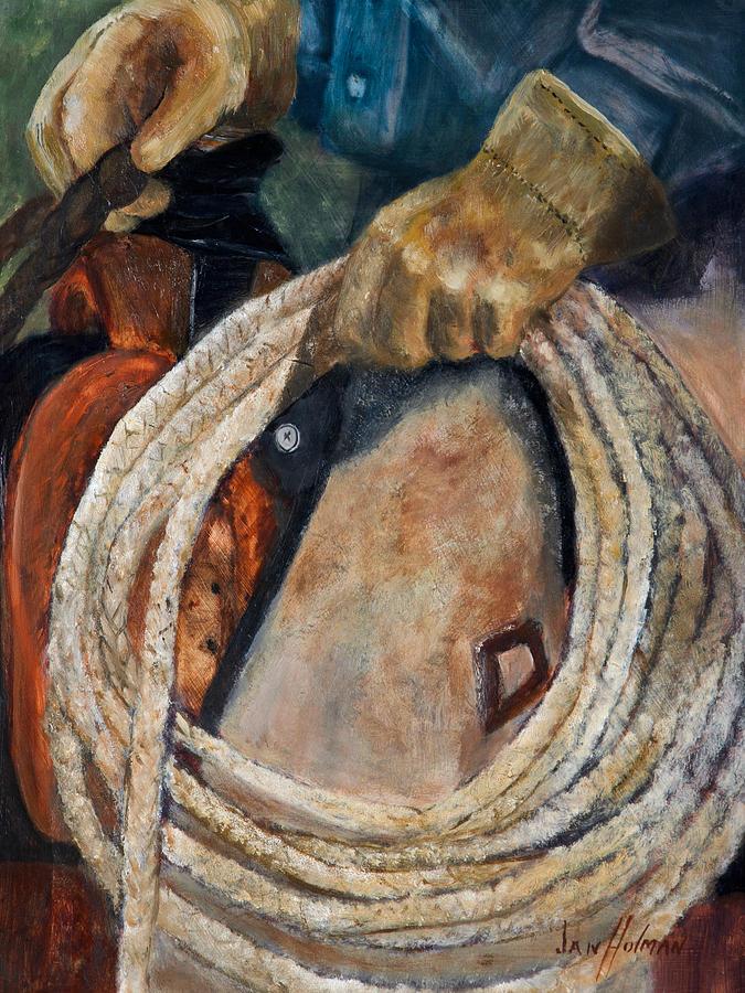 Jan Holman Painting - Riata by Jan Holman