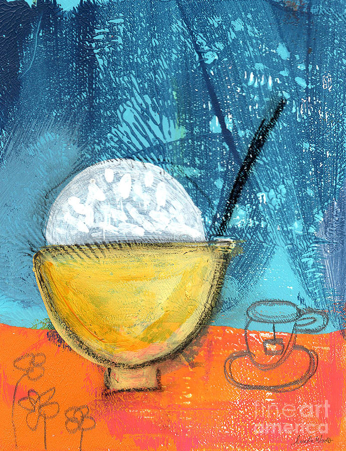 Rice Painting - Rice And Tea by Linda Woods