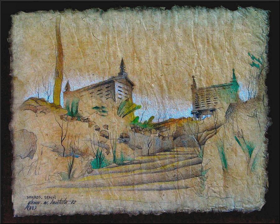 Rice Drawing - Rice Storage In Muros 1982 by Glenn Bautista