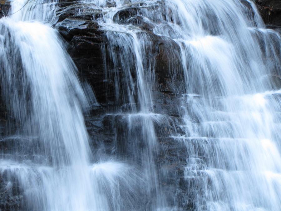 Ricketts Glen Photograph - Ricketts Glen Waterfall 3942 by David Dehner