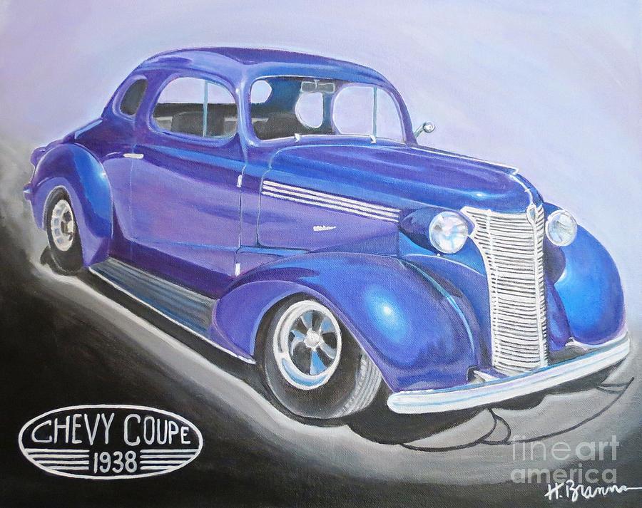 Classic Car Painting - Ricks Wife by Holly Bartlett Brannan