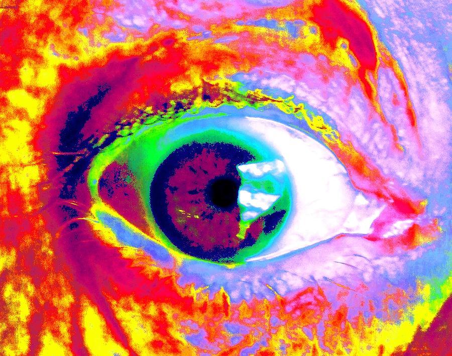 Abstract Painting - Ricos Eye by Renate Nadi Wesley