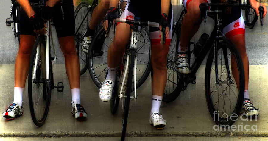 Bike Photograph - Riders Strong  by Steven Digman