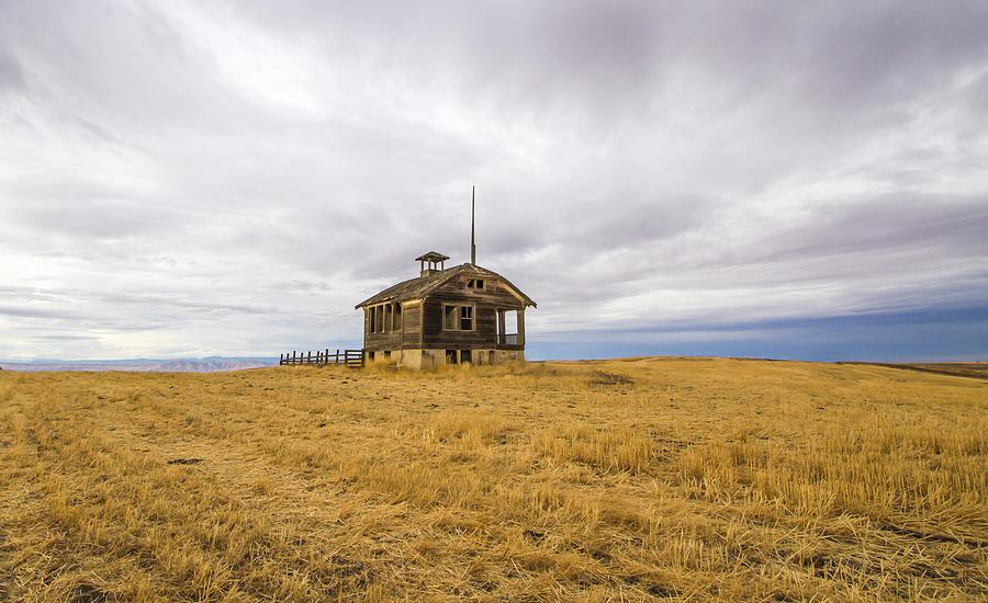 School Photograph - Ridge Top School by Jean Noren