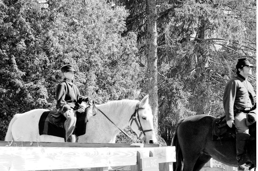 Usa Photograph - Riding Soldiers B And W IIi by LeeAnn McLaneGoetz McLaneGoetzStudioLLCcom