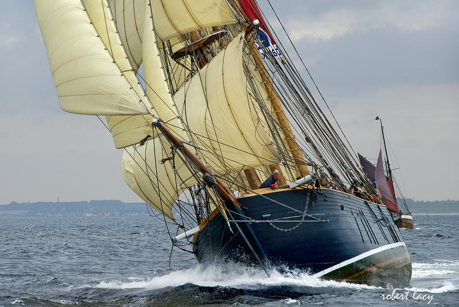 Sailing Ship Photograph - Riding The Wind by Robert Lacy