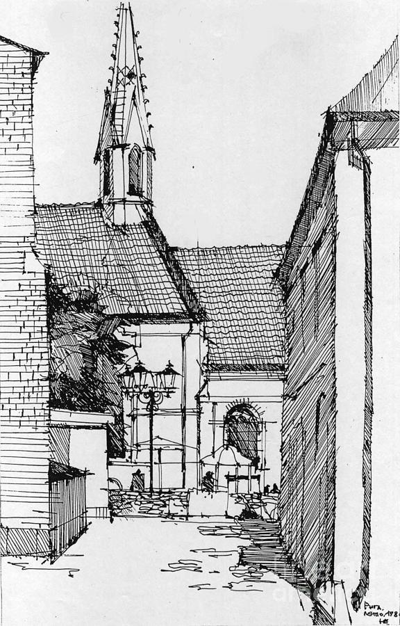 Riga Drawing - Riga - Latvia by Natalia Eremeyeva Duarte
