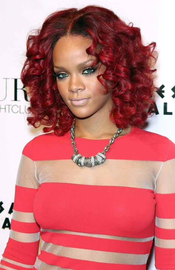 Rihanna Photograph - Rihanna In Attendance For Rihanna New by Everett