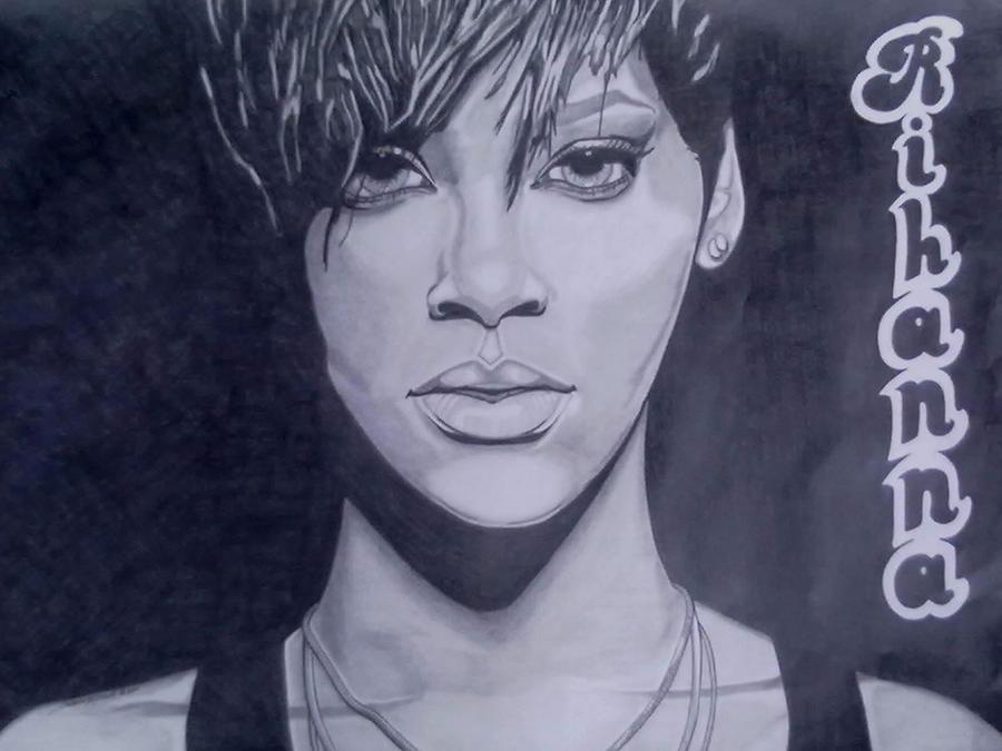 Rihanna Drawing - Rihanna by Lakeesha Mitchell