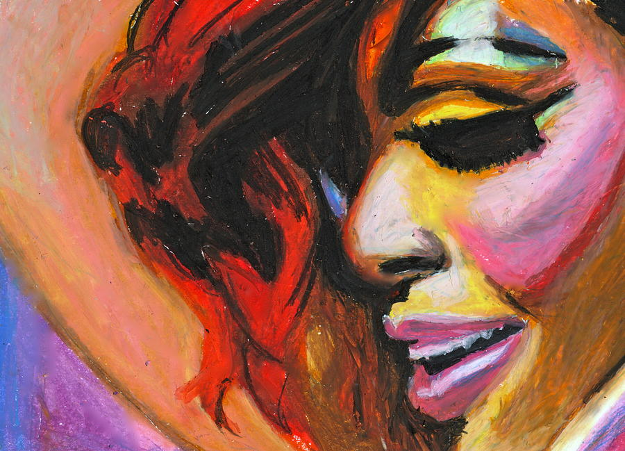 Rihanna Pastel - Rihanna Smile by Siobhan Bevans