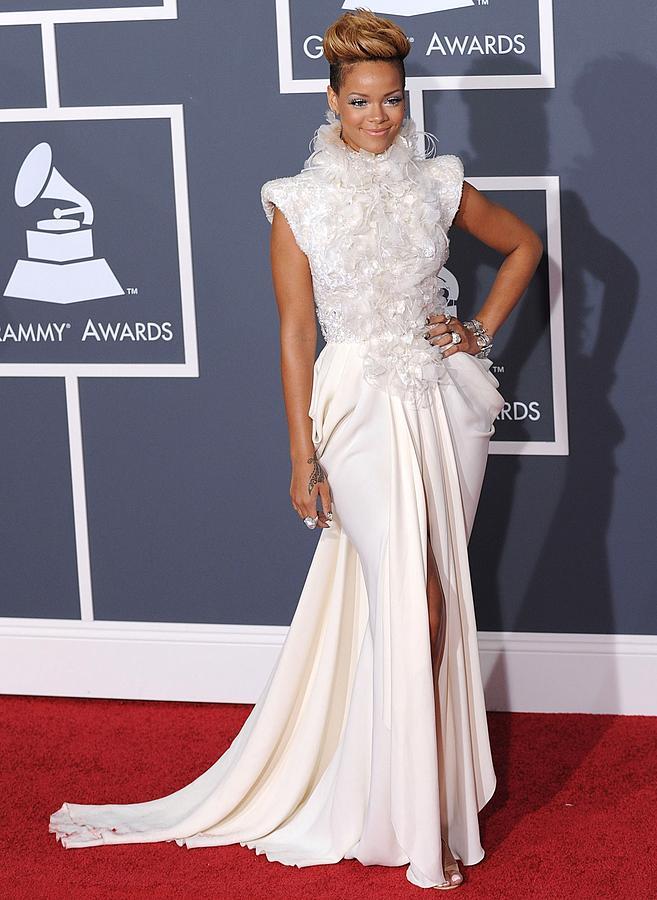 Rihanna Photograph - Rihanna Wearing An Elie Saab Haute by Everett