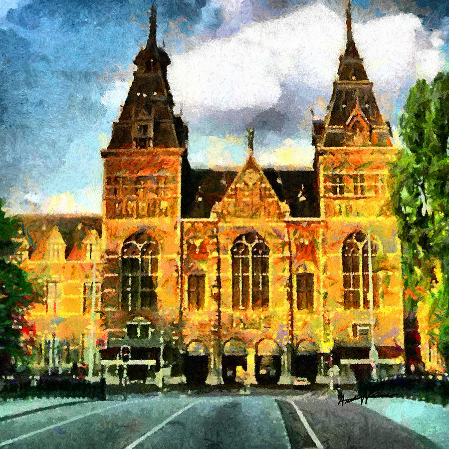 Architecture Painting - Rijksmuseum by Anthony Caruso