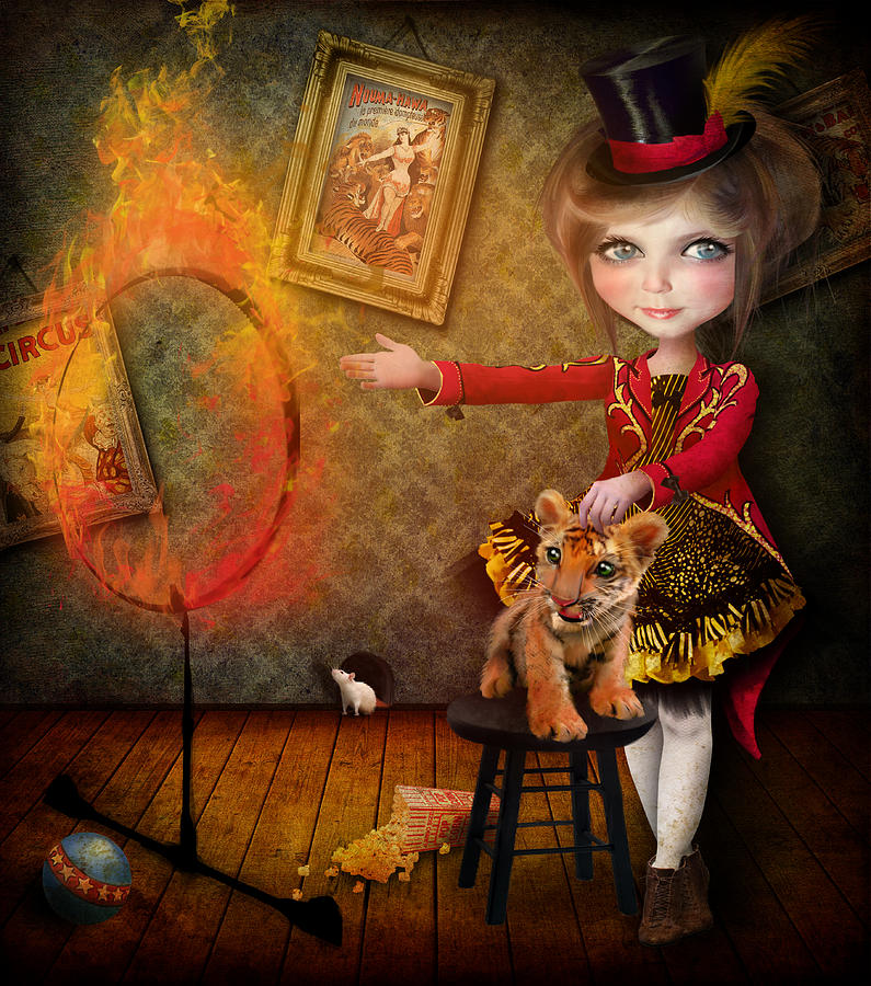Circus Digital Art - Ring Of Fire by Jessica Von Braun