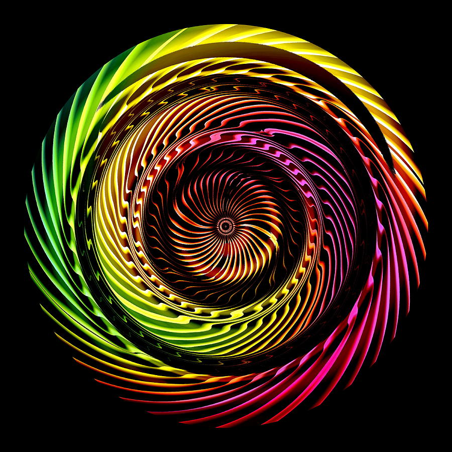 Visual Arts Drawing: Ring Of Fire Digital Art By Visual Artist Frank Bonilla