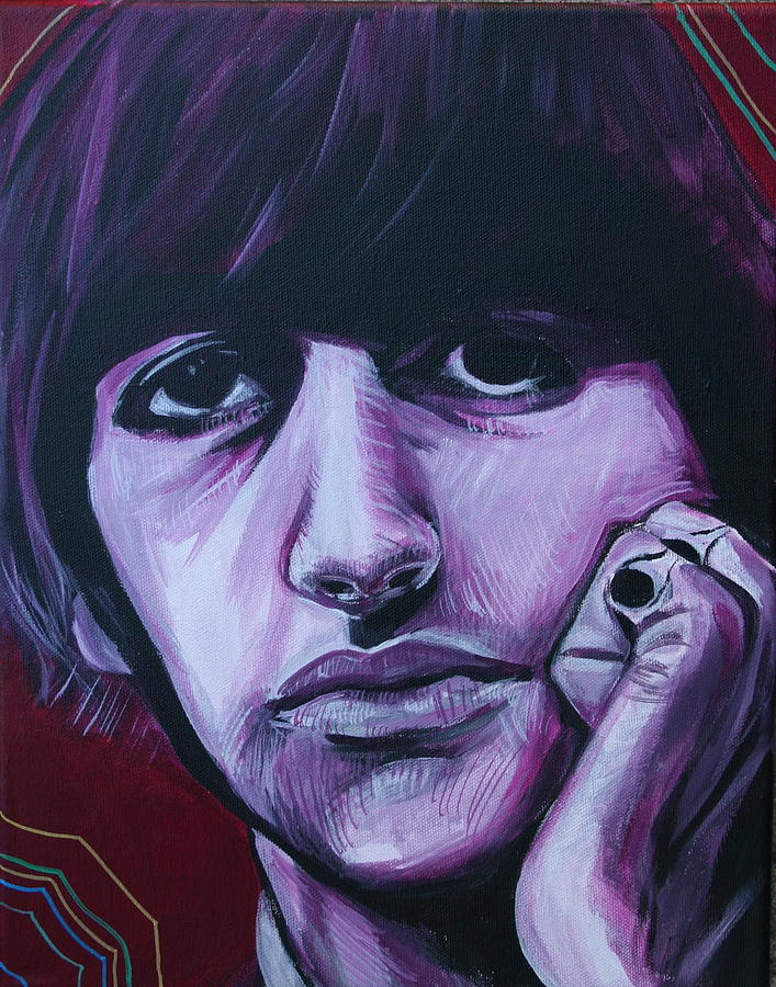 Beatles Painting - Ringo Star by Kate Fortin