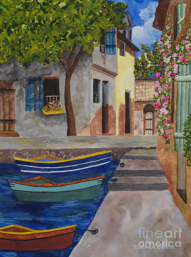 Harbour Painting - Rio De Lucia by Kimberlee Weisker