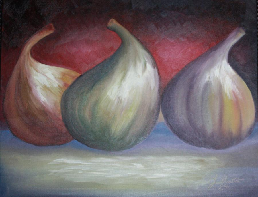 Figs Painting - Ripening Figs by Julliette Salter