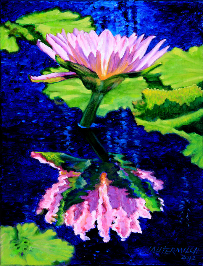 Water Lily Painting - Ripple Reflections Of Beauty by John Lautermilch