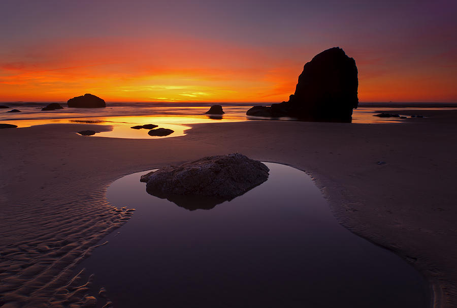 Tidepool Photograph - Ripples And Reflections by Mike  Dawson