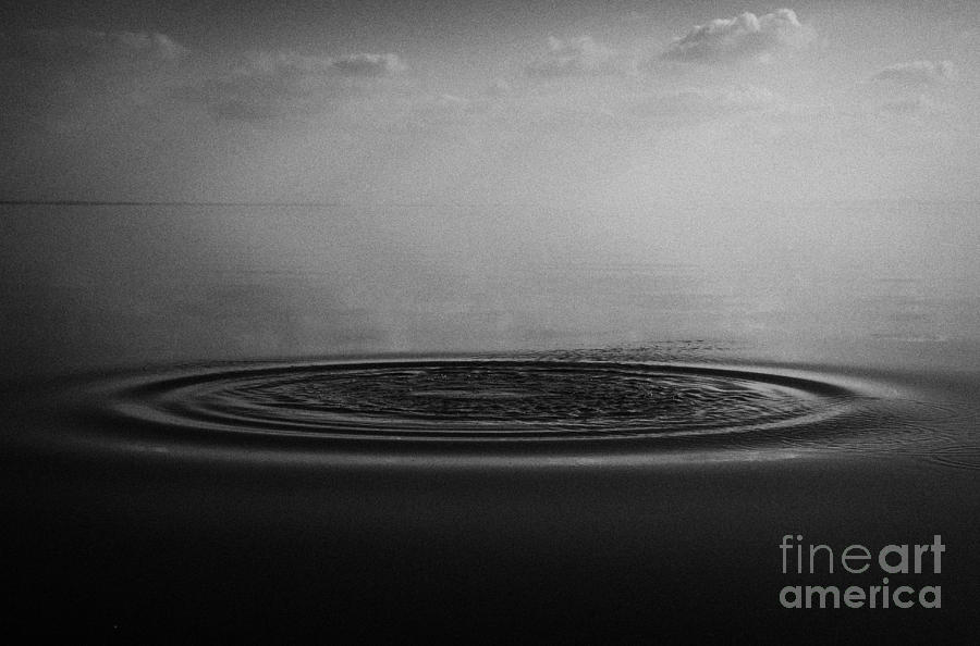 Inland Photograph - Ripples On Still Lough Neagh County Antrim Northern Ireland by Joe Fox