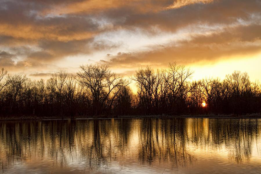 Sunrise Photograph - Rising Sun At Crane Hollow by James BO  Insogna