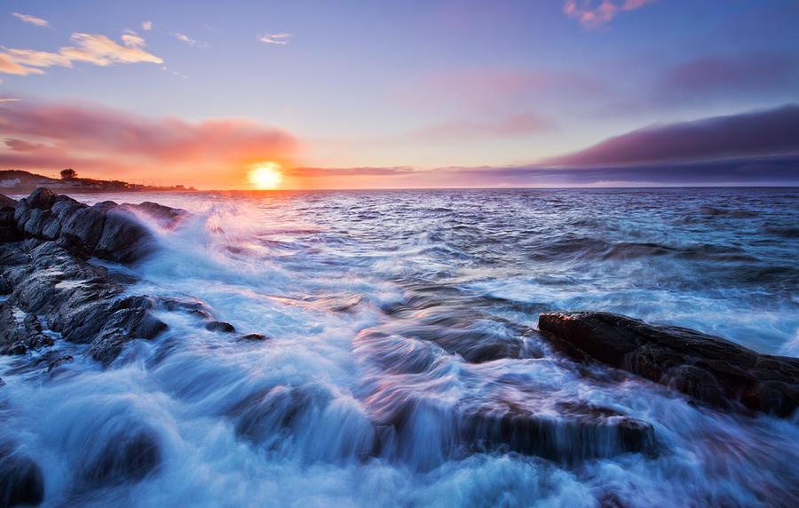 Atlantic Photograph - Rising Tide by Mircea Costina Photography