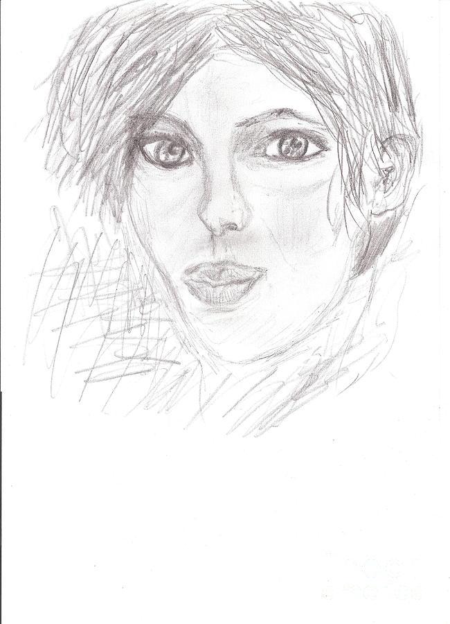 Pencil Drawing - Rita by Kira Nech