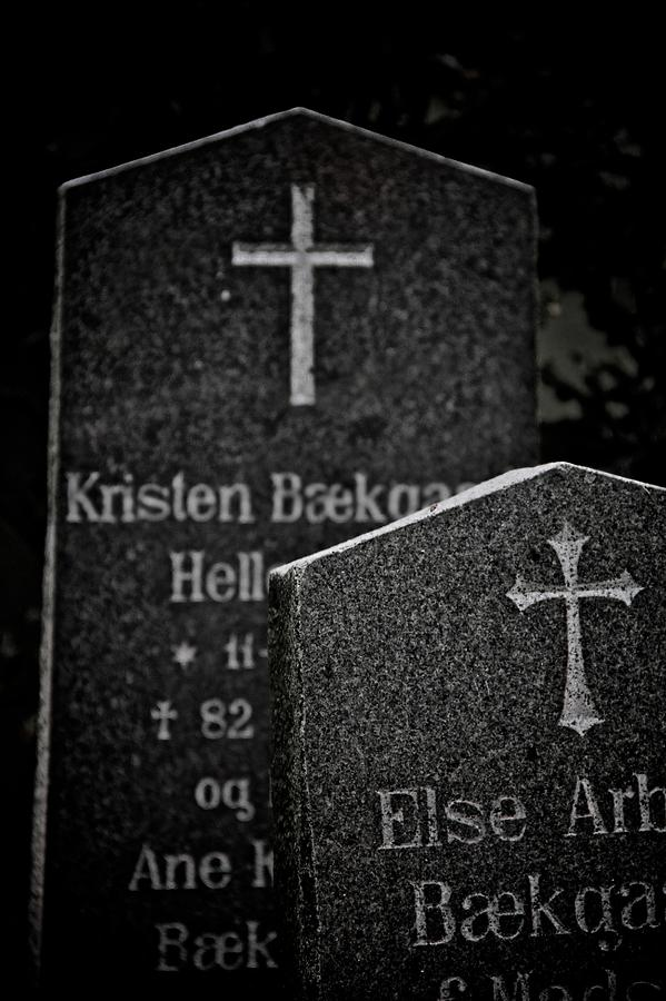 Headstones Photograph - Ritual by Odd Jeppesen