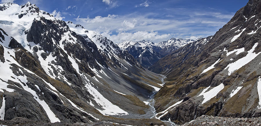 River Descends From Southern Alps Photograph by Colin Monteath
