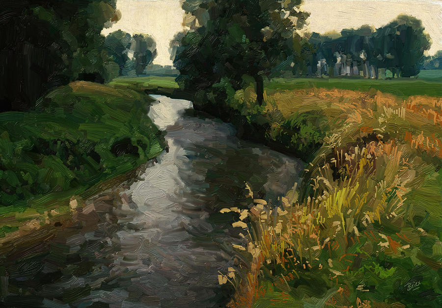 Netherlands Painting - River Geul by Nop Briex