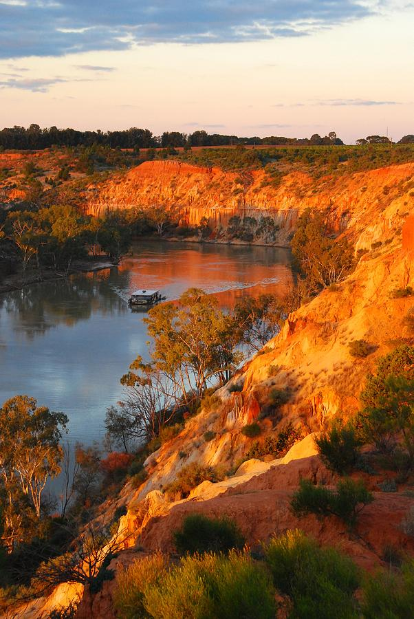 Water Photograph - River Murray At Sunset by Patricia Tapping