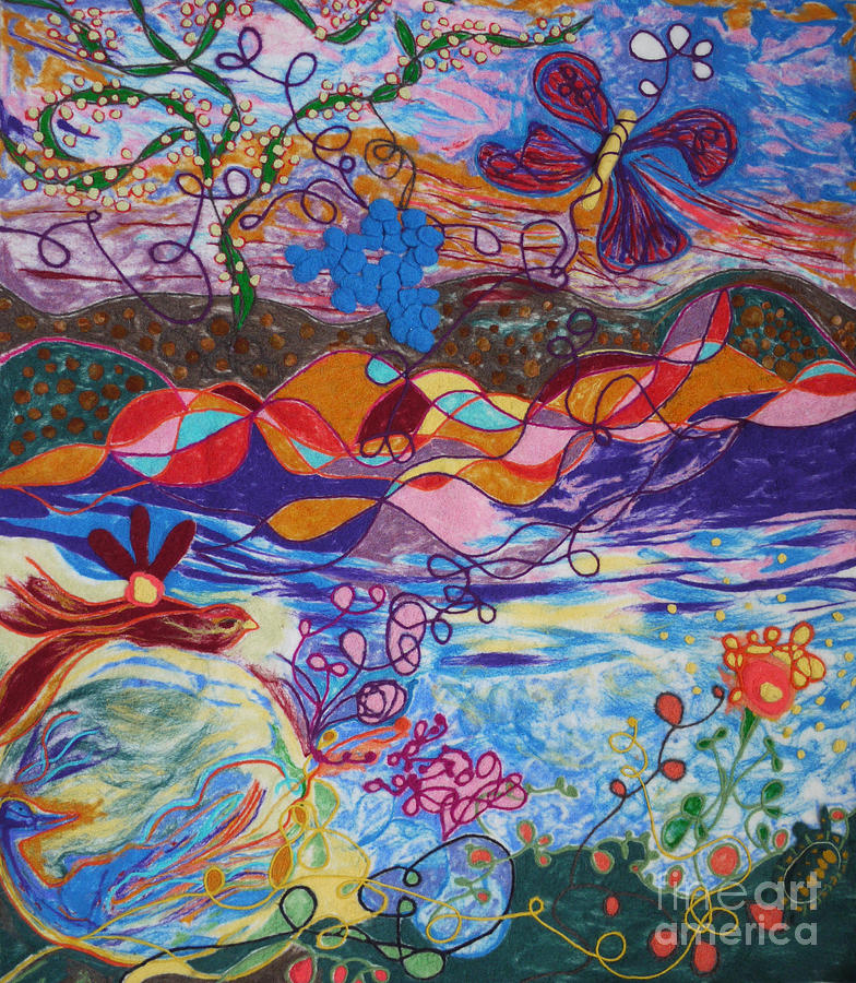 Abstract Painting - River Of Life by Heather Hennick