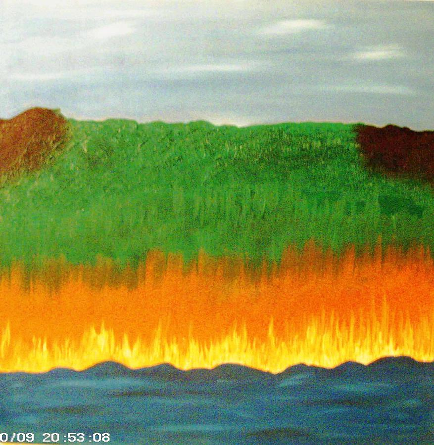 River Sambatyon Painting by Harris Gulko
