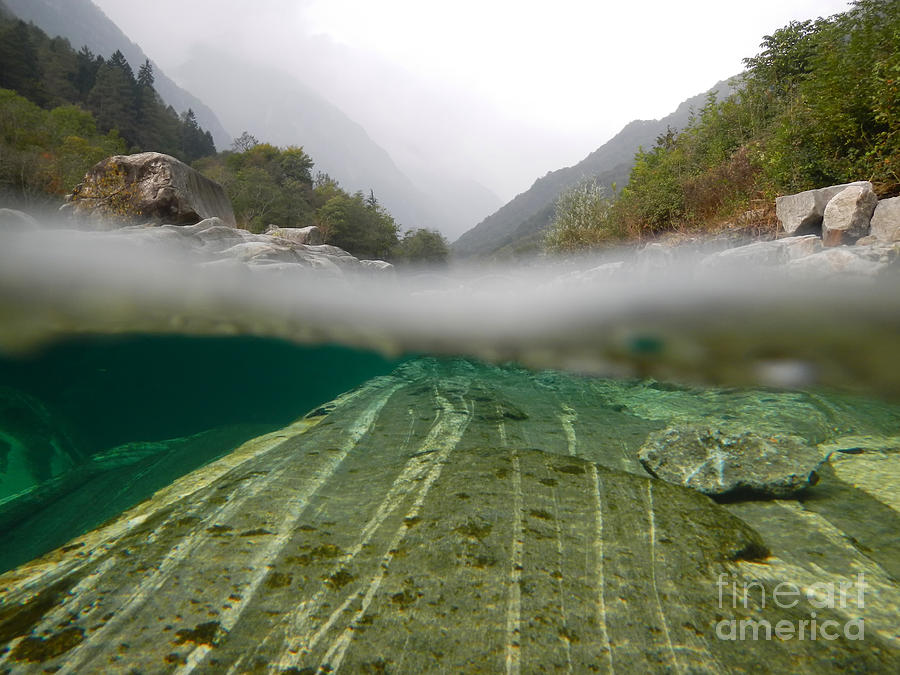 Under The Water Photograph - River Surface by Mats Silvan