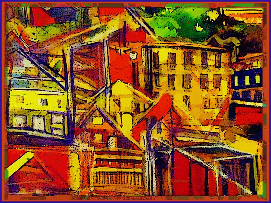 Buildings Painting - River Town In Ohio by Mindy Newman