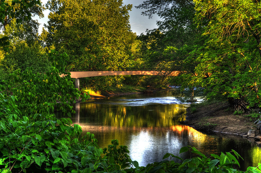 River Walk Photograph - River Walk Bridge by Greg and Chrystal Mimbs