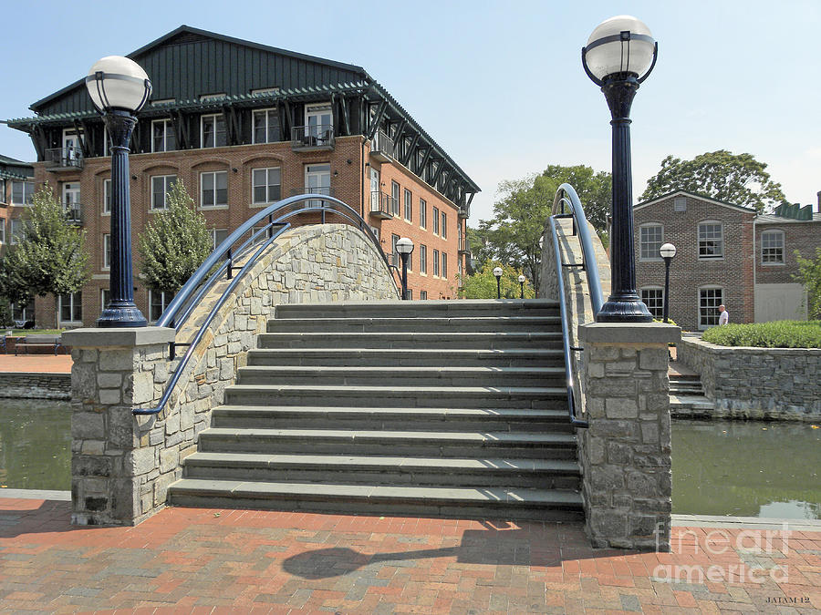 River Walk Bridge In Frederick Maryland Photograph
