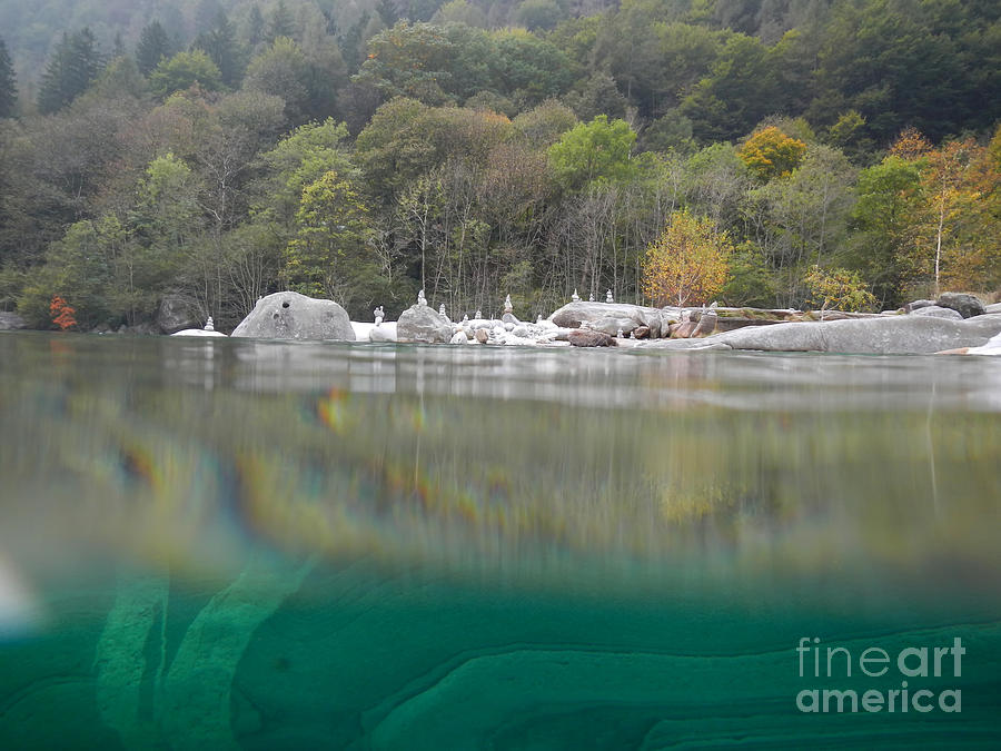 Under The Water Photograph - River With Trees by Mats Silvan